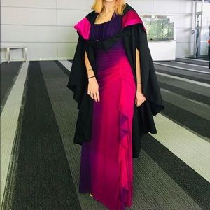 Purple and pink gradient formal dress